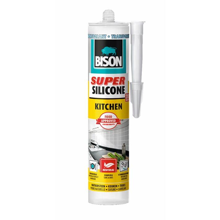 6308537 Bison Super Silicone Kitchen Transparant Cartridge 300 ml NL/FR