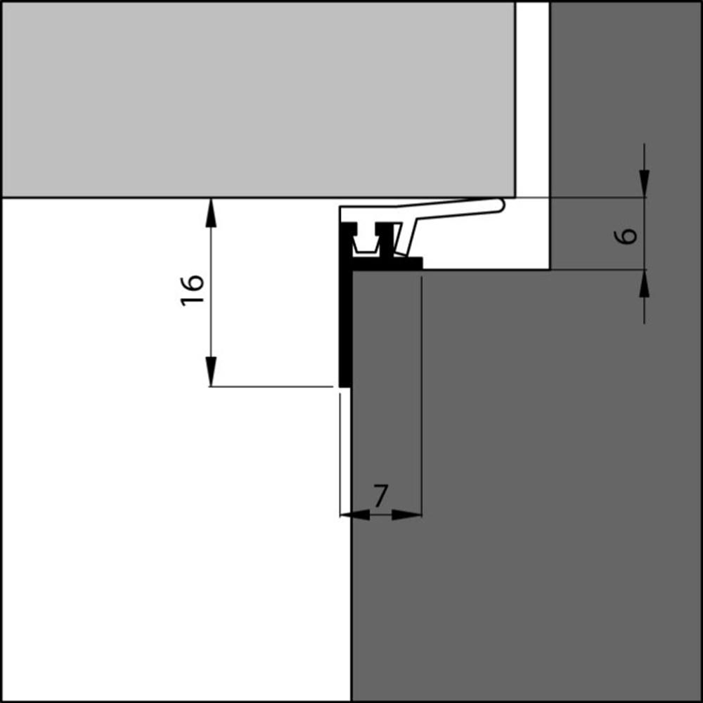 Tochtprofiel opbouw, aluminium