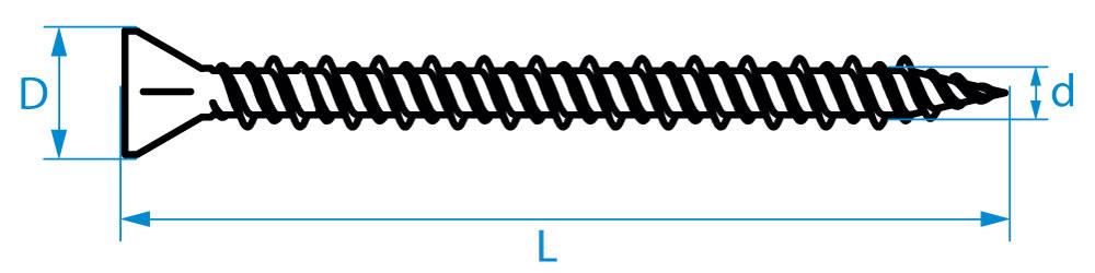 QZ Schnellbauschrauben hi-lo Gewinde Typ Fermacell PH-2 Stahl gehärtet schwarz
