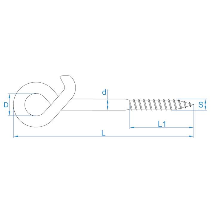 Veiligheidsschommelhaken houtdraad | Safety swing hooks wood thread | Sicherheitsschaukelhaken mit Holzgewinde | Crochets de balançoire de sûreté à bois