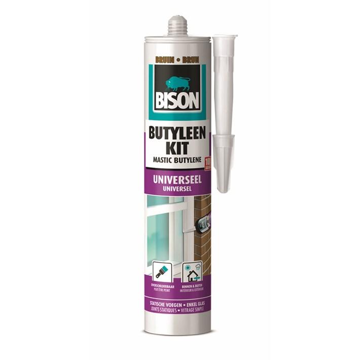 1491007 Bison Butylene Sealant Brown Cartridge 300 ml NL/FR