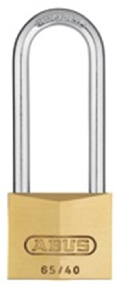 Hangslot cilinder hoge beugel, messing
