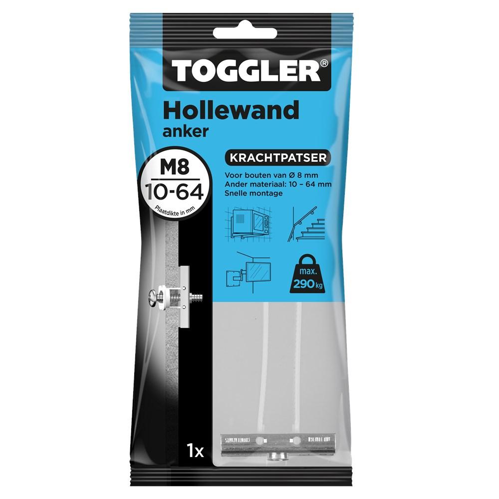 Toggler Hollewandanker M8 zak met 1 anker.tif