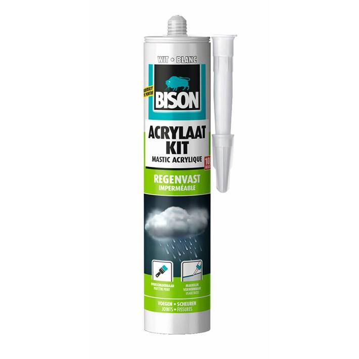 Bison Acrylic Sealant Rainproof White Cartridge 300 ml NL/FR