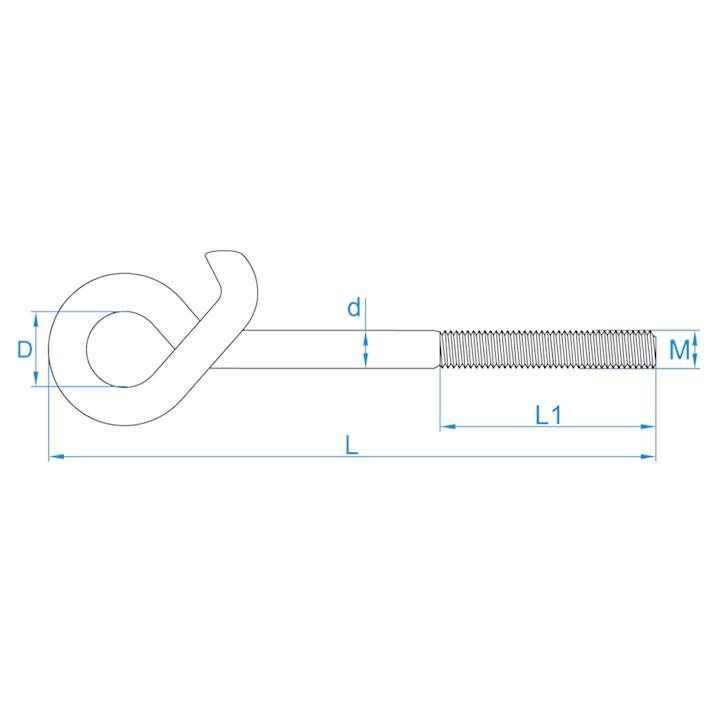 Veiligheidsschommelhaken metrisch | Safety swing hooks metric | Sicherheitsschaukelhaken mit Eisengewinde | Crochets de balançoire de sûreté métriques
