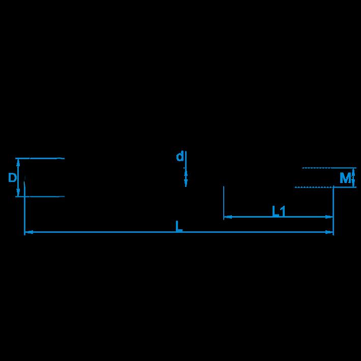 Veiligheidsschommelhaken metrisch tekening | Safety swing hooks metric drawing | Sicherheitsschaukelhaken mit Eisengewinde Zeichnung | Crochets de balançoire de sûreté métriques plan