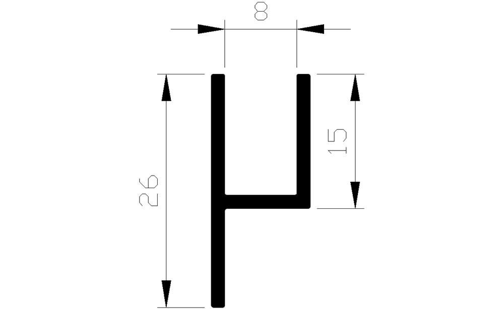 H-profiel, aluminium