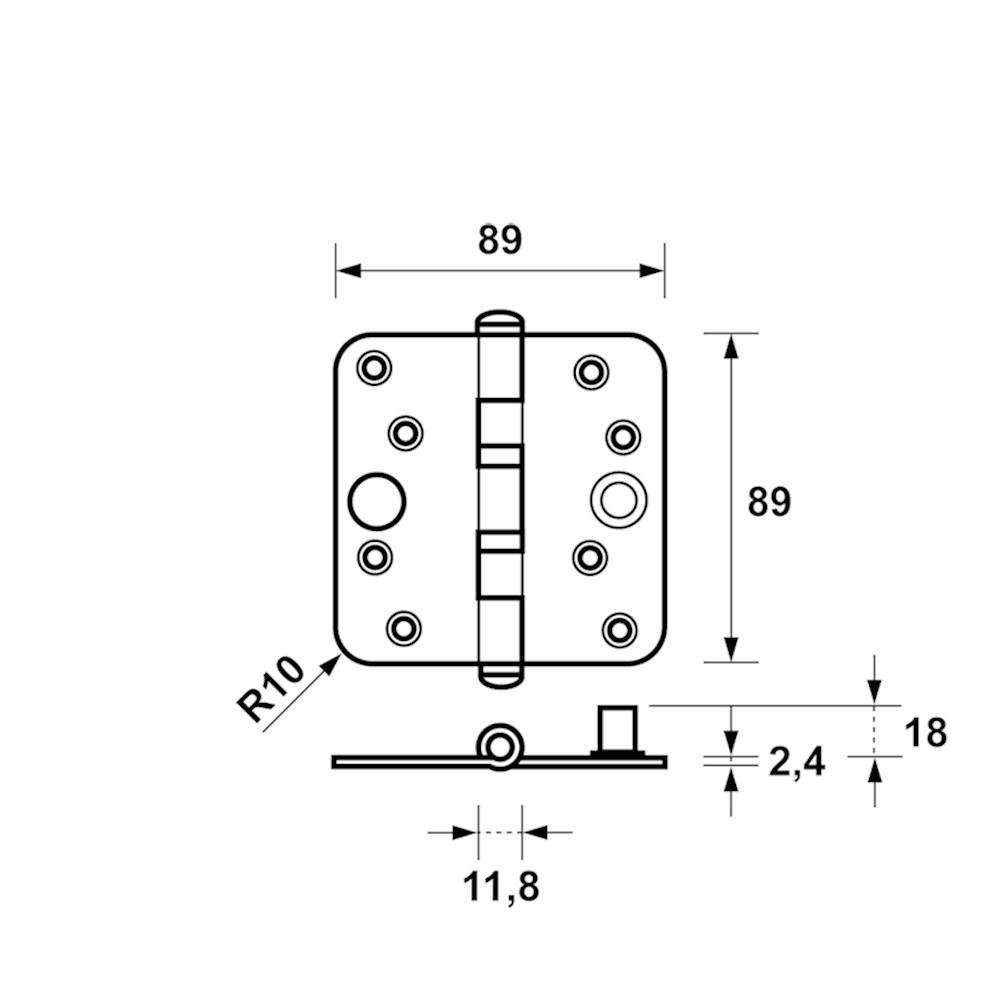 veiligheidskogellagerscharnier product maattekening 1543-25.png