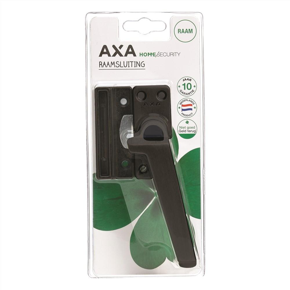 AXA RAAMSLUITING BLISTER ZWART MET KNOP RS.