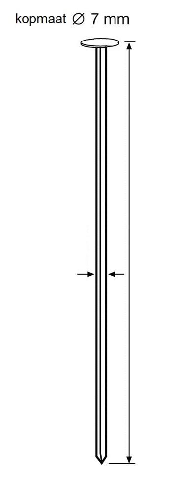 Draadnagel plat geruite kop, gegalvaniseerd