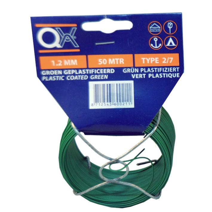 Binddraad geplastificeerd ijzer verzinkt | Tie wire plastfied iron zincplated | Bindedraht plastifiziert Eisen verzinkt | Fil de fer plastifié acier zingué