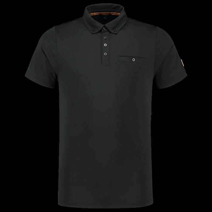 Tricorp Poloshirt Premium Button Down Black