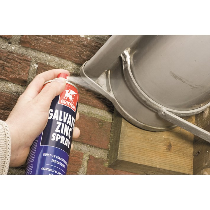 1233506 GR Galvatec Zincspray 400 ml NL/FR/EN Galvanize iron gutter holder