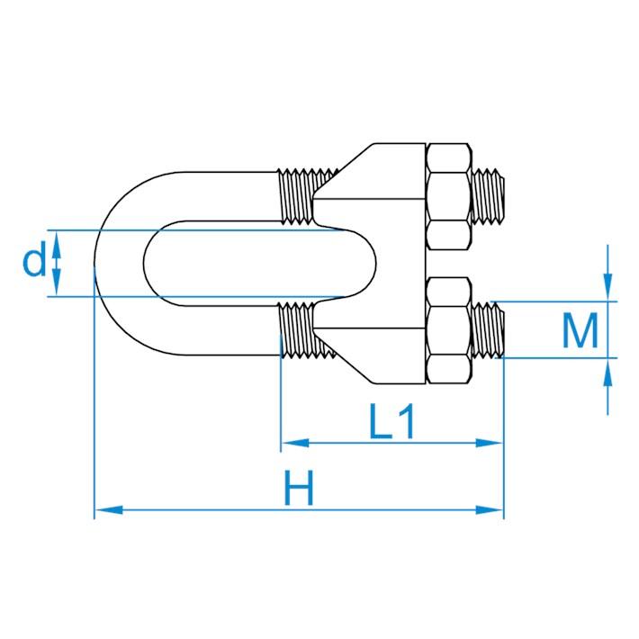 Staaldraadklemmen | Wire rope clips | Drahtseilklammern | Serre-câbles à étrier