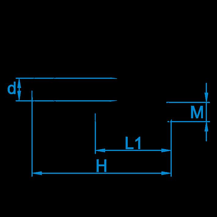 Staaldraadklemmen DIN741 tekening | Wire rope clips DIN741 drawing | Drahtseilklammern DIN741 Zeichnung | Serre-câbles à étrier DIN741 plan
