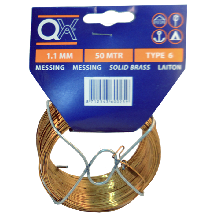 Binddraad messing QX | Tie wire solid brass QX | Bindedraht Messing QX | Fil de fer laiton QX