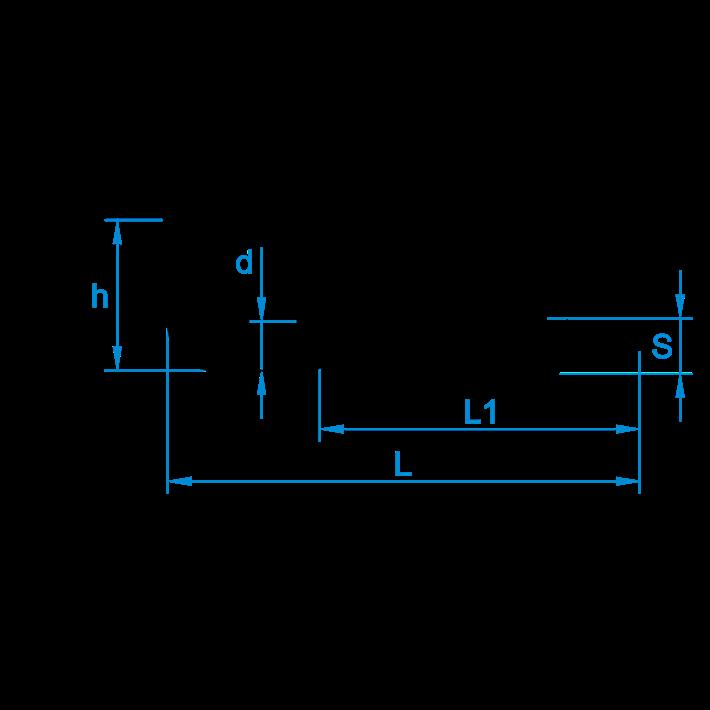 Schroefduimen zwaar met kruisindruk tekening | Cross recessed square hooks heavy drawing | Kreuzschlitzhaken Zeichnung | Gonds à vis lourds à empeinte cruciforme plan