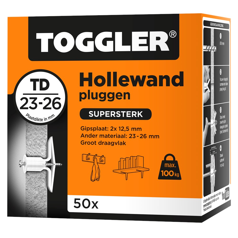 Toggler Hollewandplug TD doos met 50 pluggen.tif