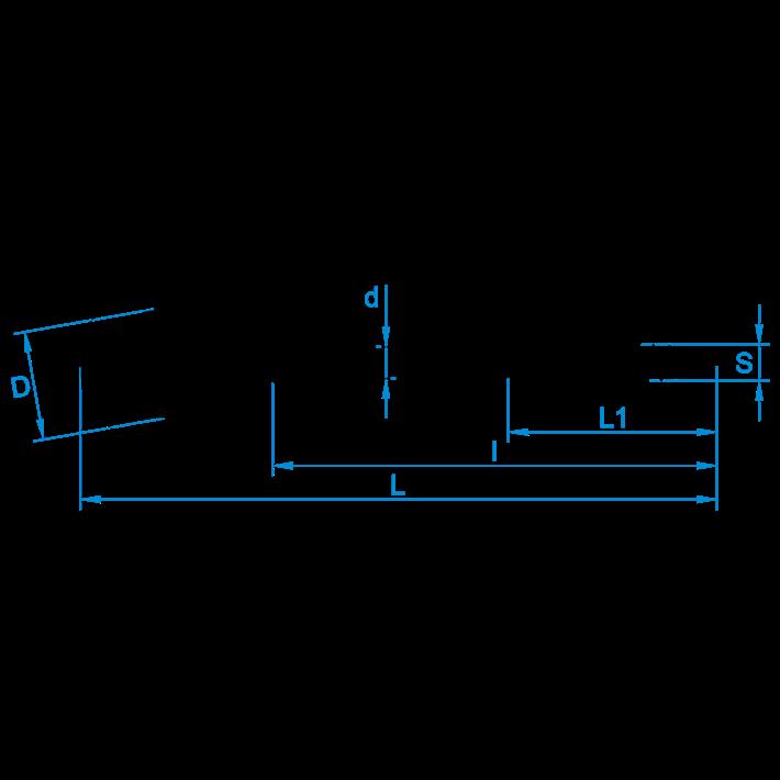 Schroefhaken met kleine haak tekening | Cup-hooks with small hook drawing | Lampenhaken Zeichnung | Crochets d'armoires avec petit crochet plan
