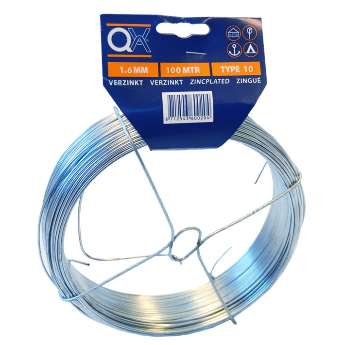 Draad ijzer verzinkt | Wire iron zincplated | Draht Eisen verzinkt | Fil acier zingué