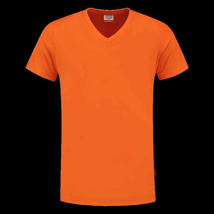 Tricorp T-shirt Vhals SlimFit Orange