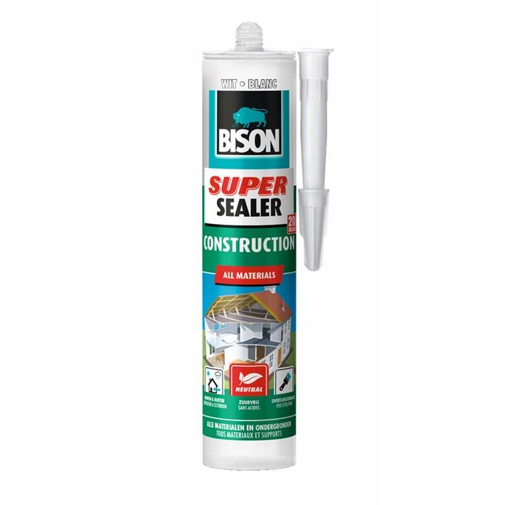 6304528 Bison Super Sealer Construction Cartridge White 290 ml NL/FR