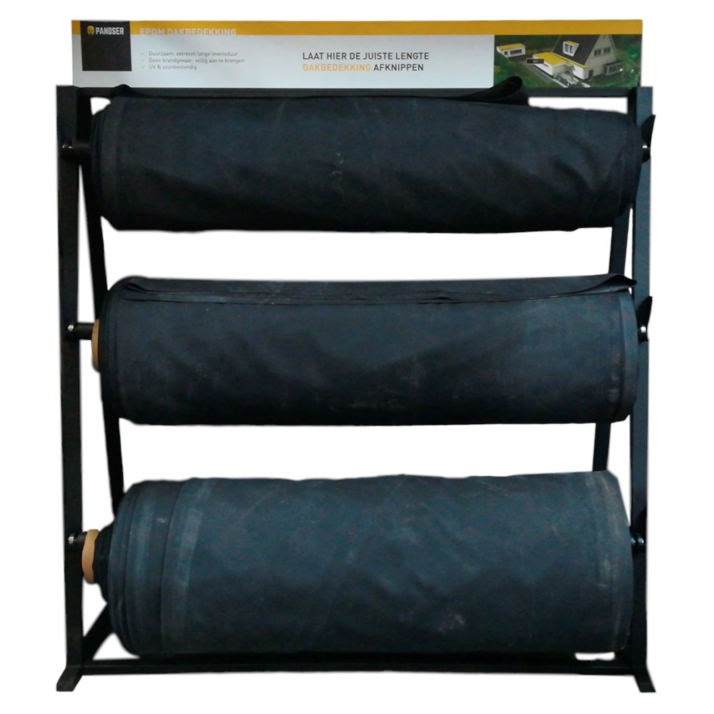PANDSER® EPDM rayonnage noir -  3 rouleaux