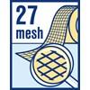 Dichtheid van weefseldraden 27 mesh