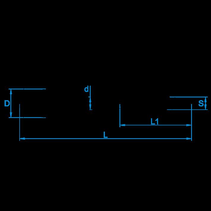 Krulhaken houtdraad tekening | Curlhooks wood thread drawing | Spiralhaken mit Holzgewinde Zeichnung | Crochets de boucle à bois plan