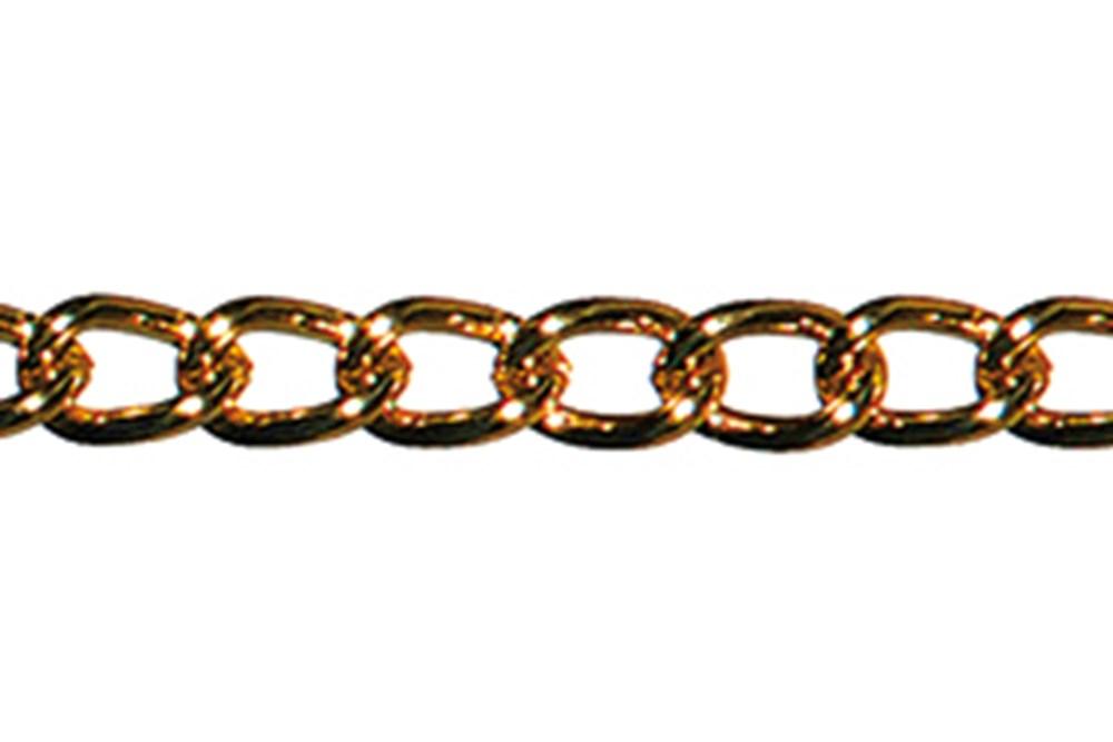 Sierketting ronde draad, staal vermessingd