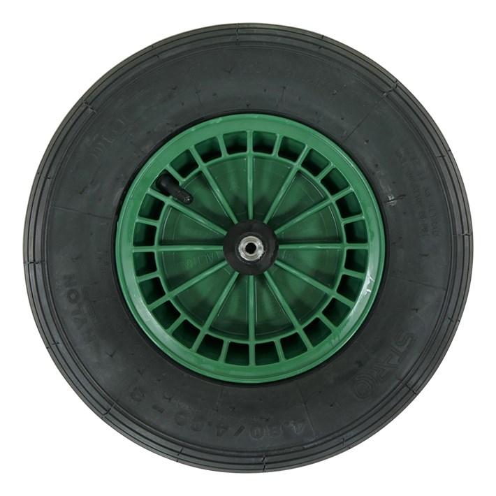 kruiwagenwiel 2PLy groen