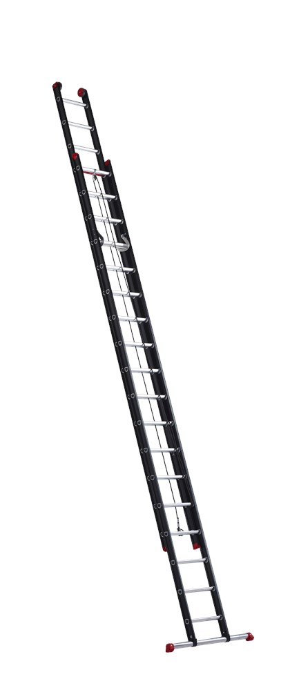 Schuifladder 2-delig, aluminium gecoat