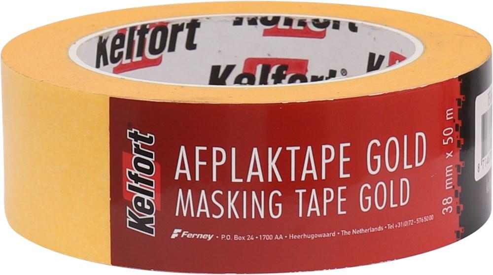 KELFORT AFPLAKBAND 50MTR GOLD 38MM