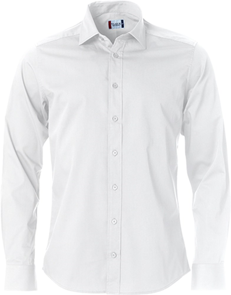Overhemd Xl.Clique Clark Heren Overhemd 027950 Wit Mt Xl Polvo Bv