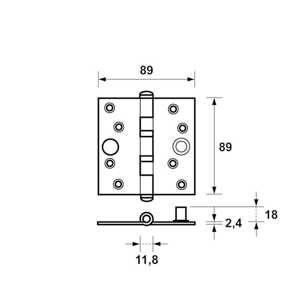 veiligheidskogellagerscharnier product maattekening 1541-25.png
