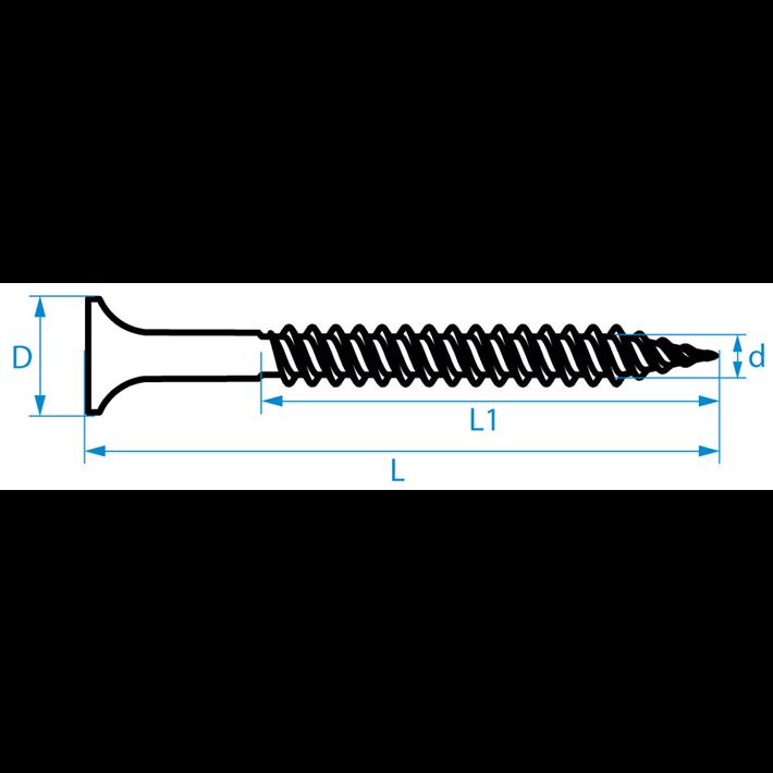 Snelbouwschroeven fijne draad type S trompetkop | Drywall screws fine thread type S bugle head | Schnellbauschrauben Feingewinde Typ S Trompetenkopf | Vis à fixation rapide filetage fin type S tête trompette