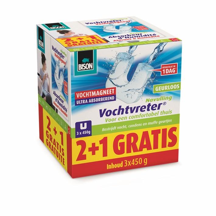 6314038 Vochtvreter Vochtmagneet 450g 2+1 GRATIS NLFR