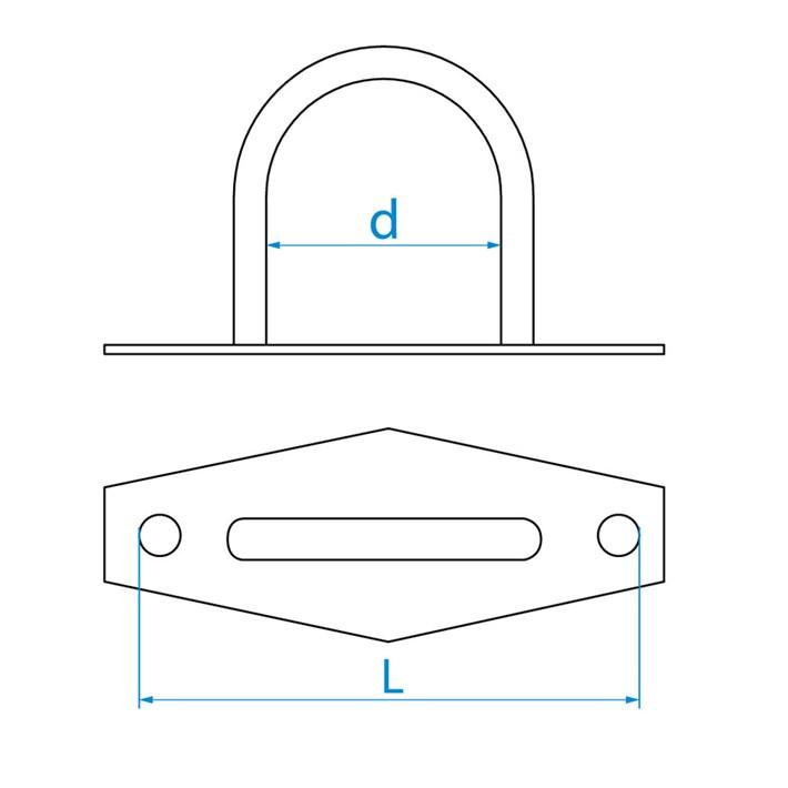 Overvalogen | Plate staples | Überfallösen | Pontets sur platine