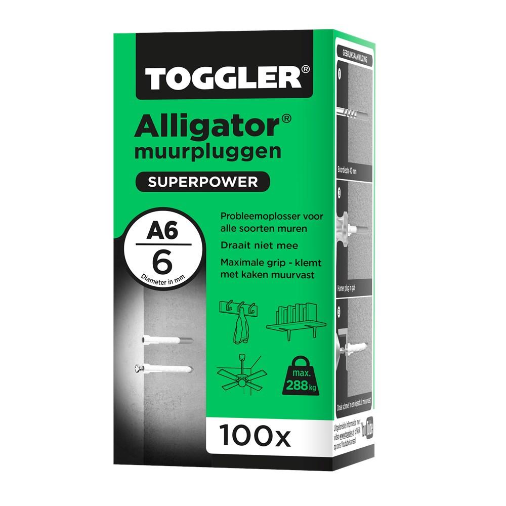 Toggler Alligator Muurplug A6 doos met 100 pluggen.tif