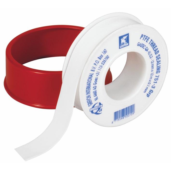 6150018 Griffon PTFE-Tape Gastec Roll 12 m x 12 mm x 0.10 mm