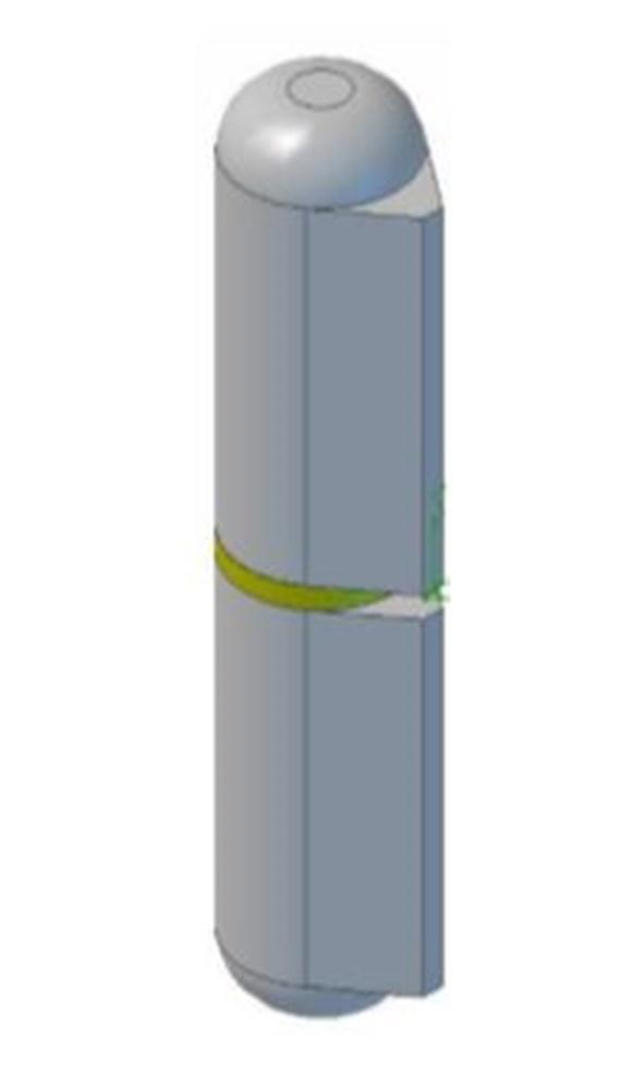 Aanlaspaumelle ronde top vaste stalen stift, blank