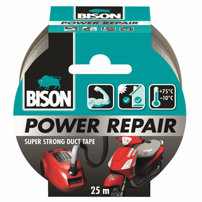 6311857 BS Power Repair Tape Grey 25 m NL/FR