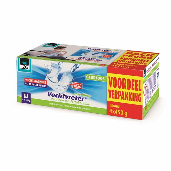 6314044 Vochtvreter Magneet Voordeelverpakking 4 * 450 g NLFR