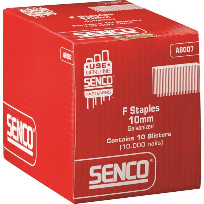 F staple 10mm cp. galv. plain blister pack