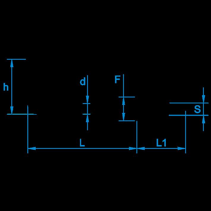 Schroefduimen met borst tekening | Shouldered square hooks drawing | Gerade Schraubhaken mit Beffe Zeichnung | Gonds à vis avec embase plan