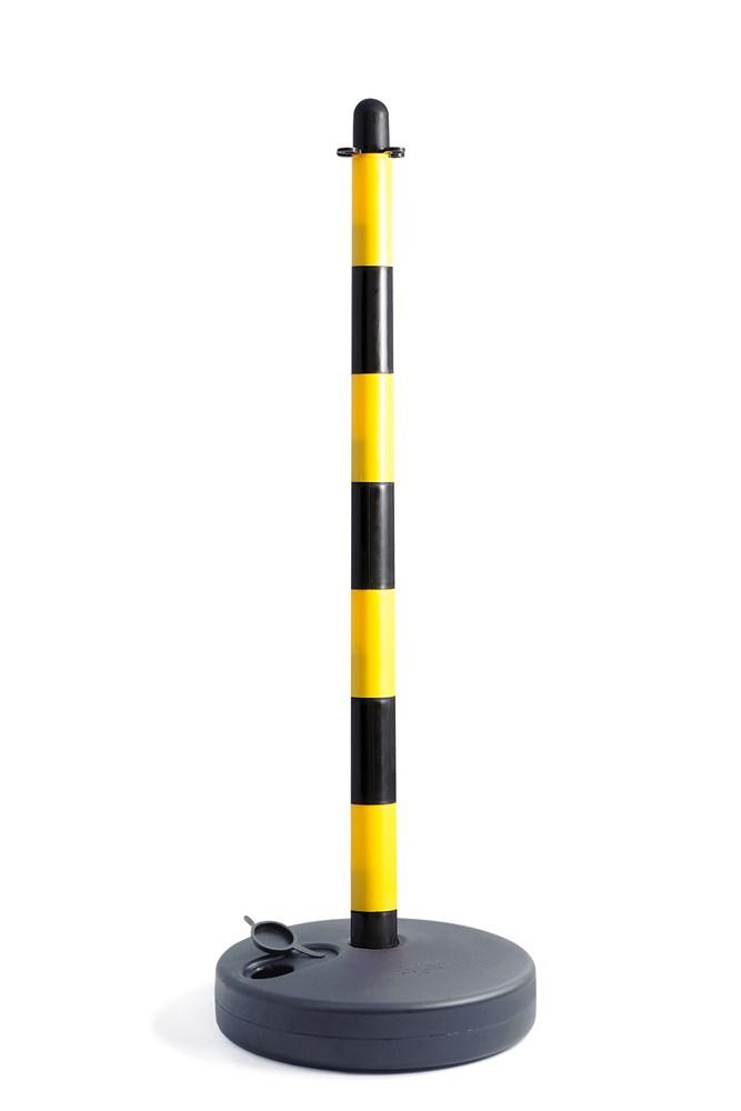 Paal met sokkel geel/zwart