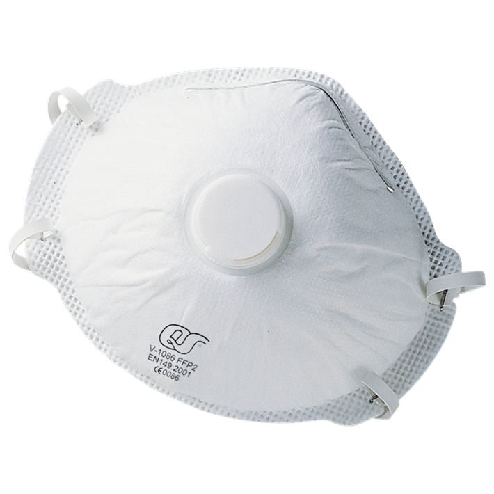 Stofmaskers fijnstof FFP 2 met uitademventiel | Dust masks fine-dust FFP 2 with exhalation valve | Staubmasken Feinstaub FFP 2 mit Ausatemventil | Masques antipousserières FFP 2 avec soupape expiratoire