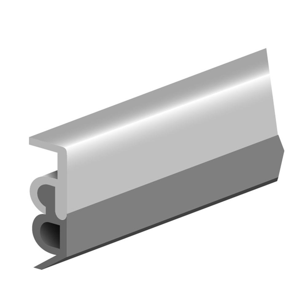 Tochtprofiel opbouw, aluminium gelakt