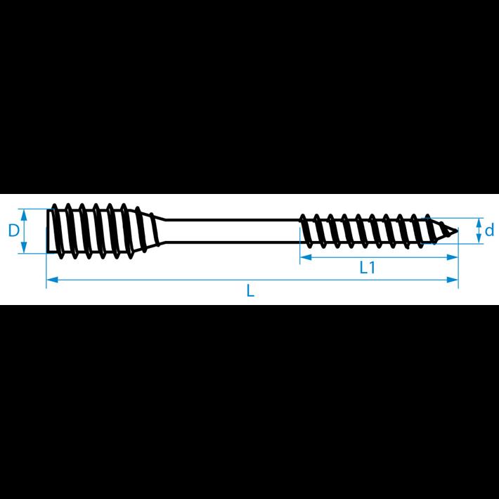 Afstandschroeven DTL tekening | Spacer screws DTL drawing | Distanzschrauben DTL Zeichnung | Vis d'ajustage DTL plan