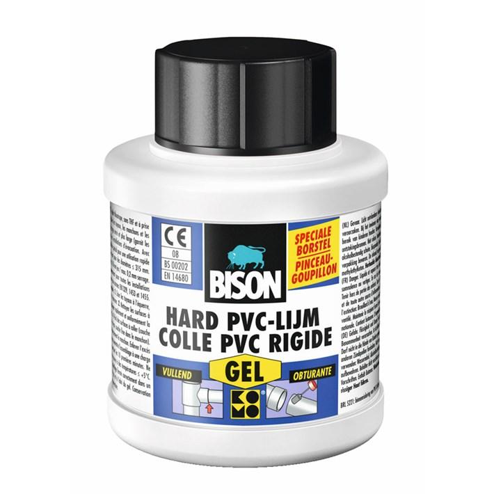 1313030 Bison Rigid PVC Adhesive Gel Bottle 250 ml NL/FR